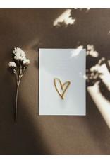 Wenskaart strijkpatch hart