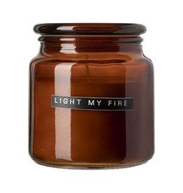 Geurkaars bruin 'Light my fire'