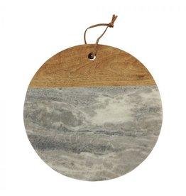 Serveerplank rond marmer grijs