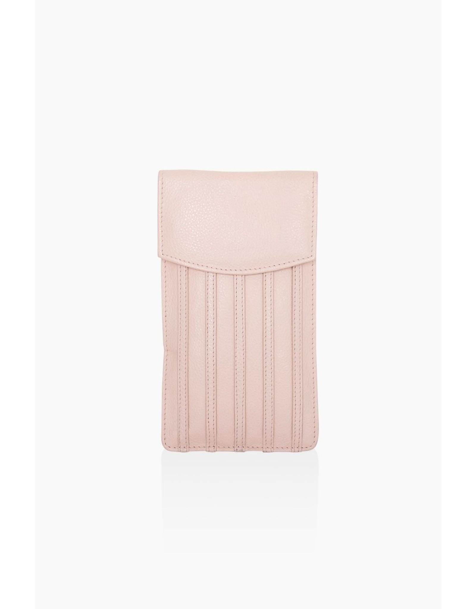 Telefoontas charm soft pink stripes