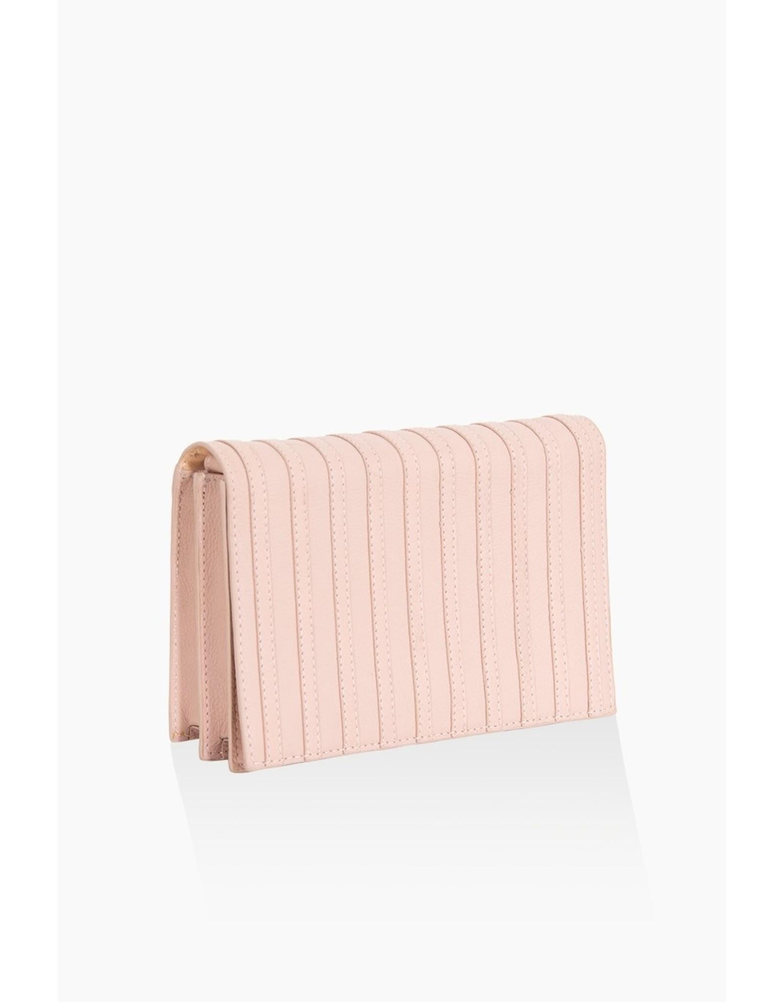 Handtas stripes soft pink
