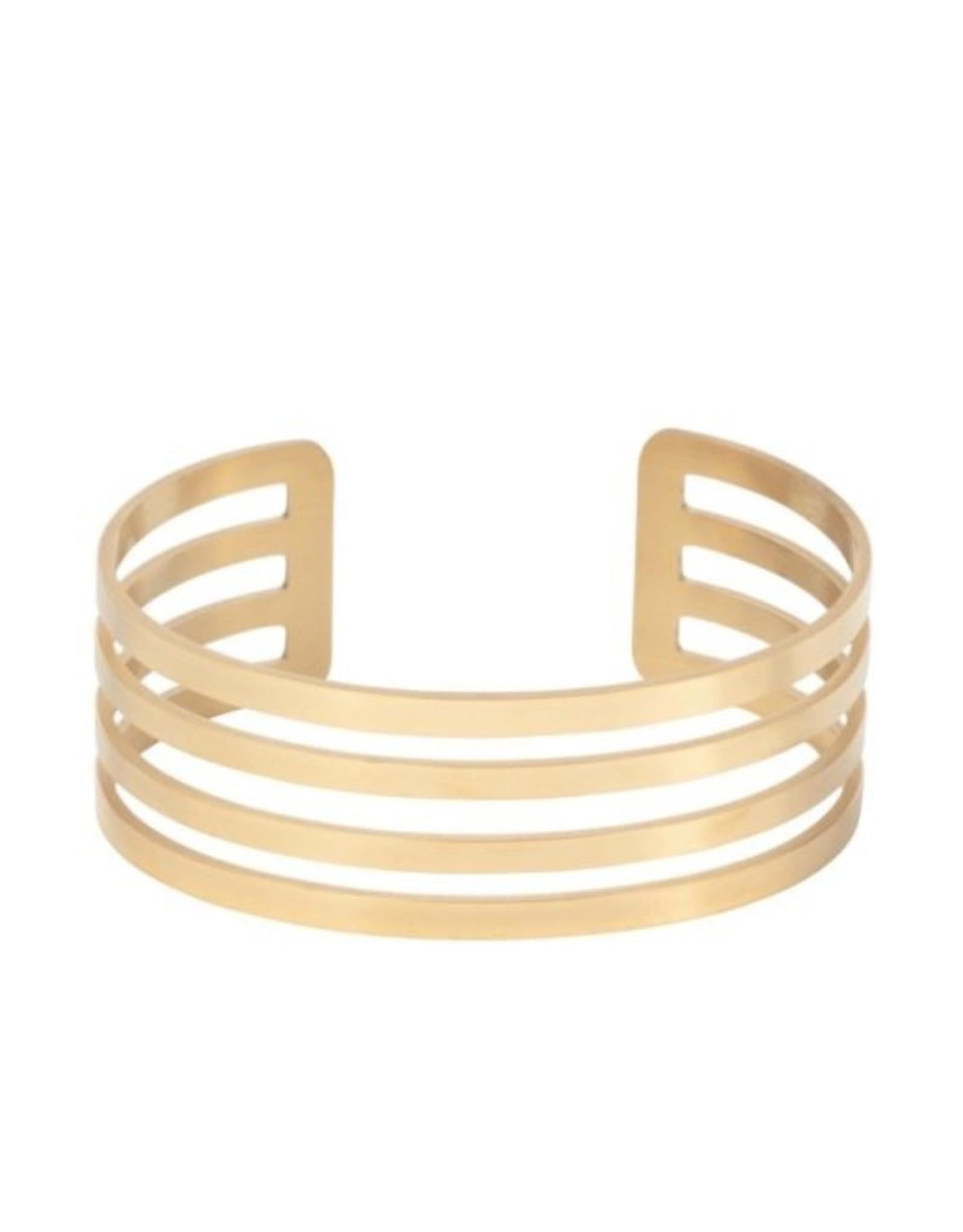 Armband breed 4 open cirkels