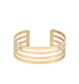 Armband breed 4 open cirkels