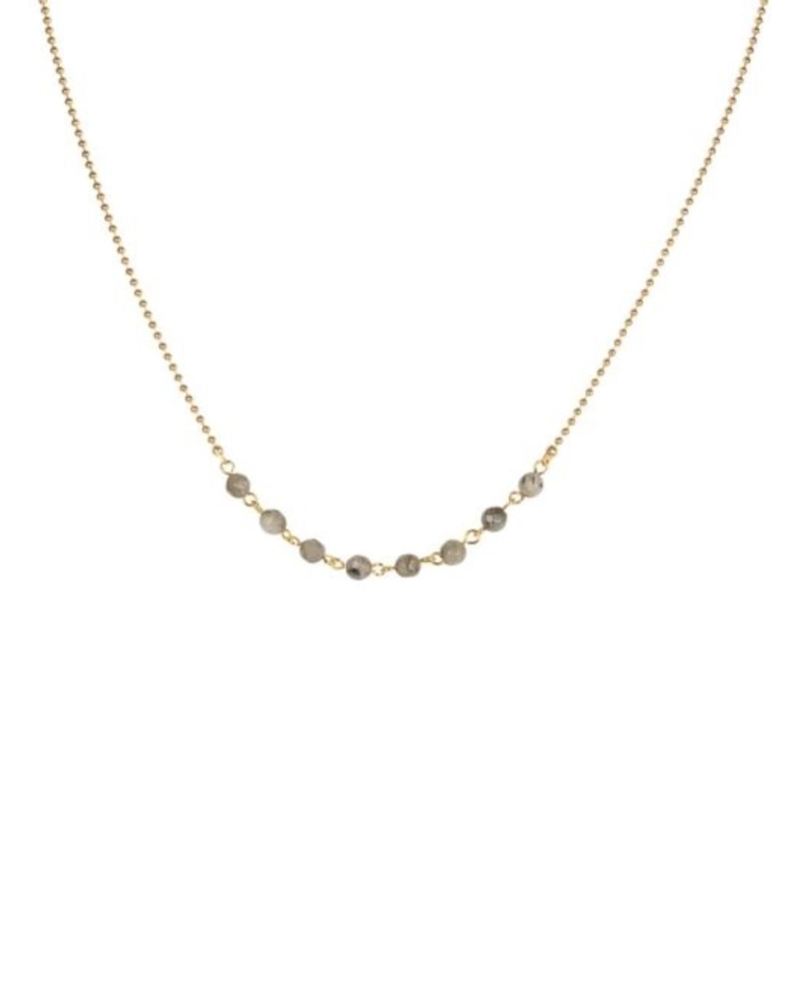Ketting gemstones grijs