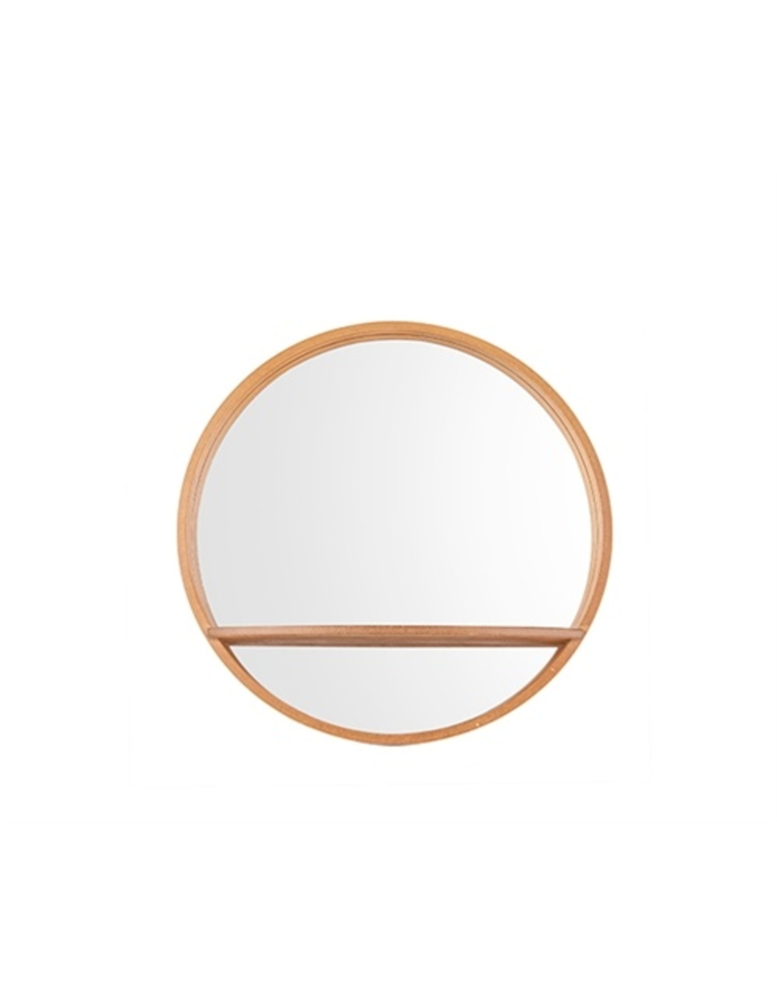 Spiegel rond hout S