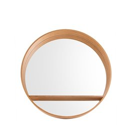 Spiegel rond hout L