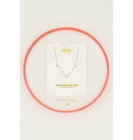 Giftbox MOM ketting goud