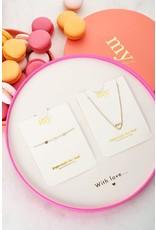 Giftbox MOM ketting + armband goud