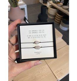 Armbandjes 'eentje voor mij eentje voor jou'