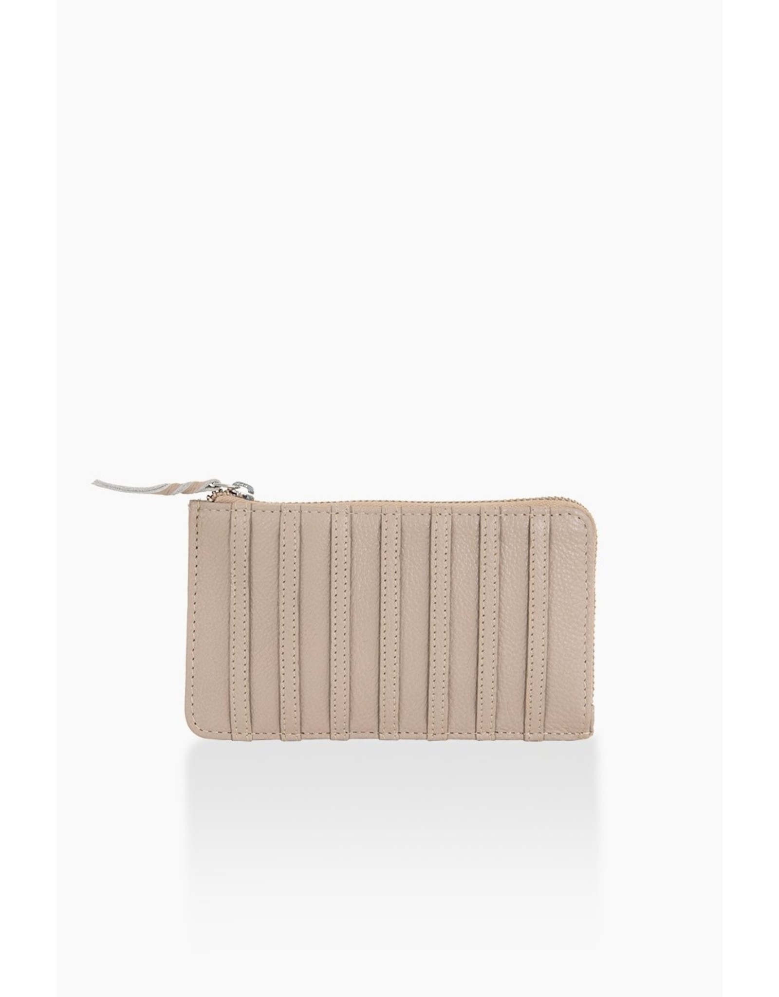 Portefeuille taupe stripes