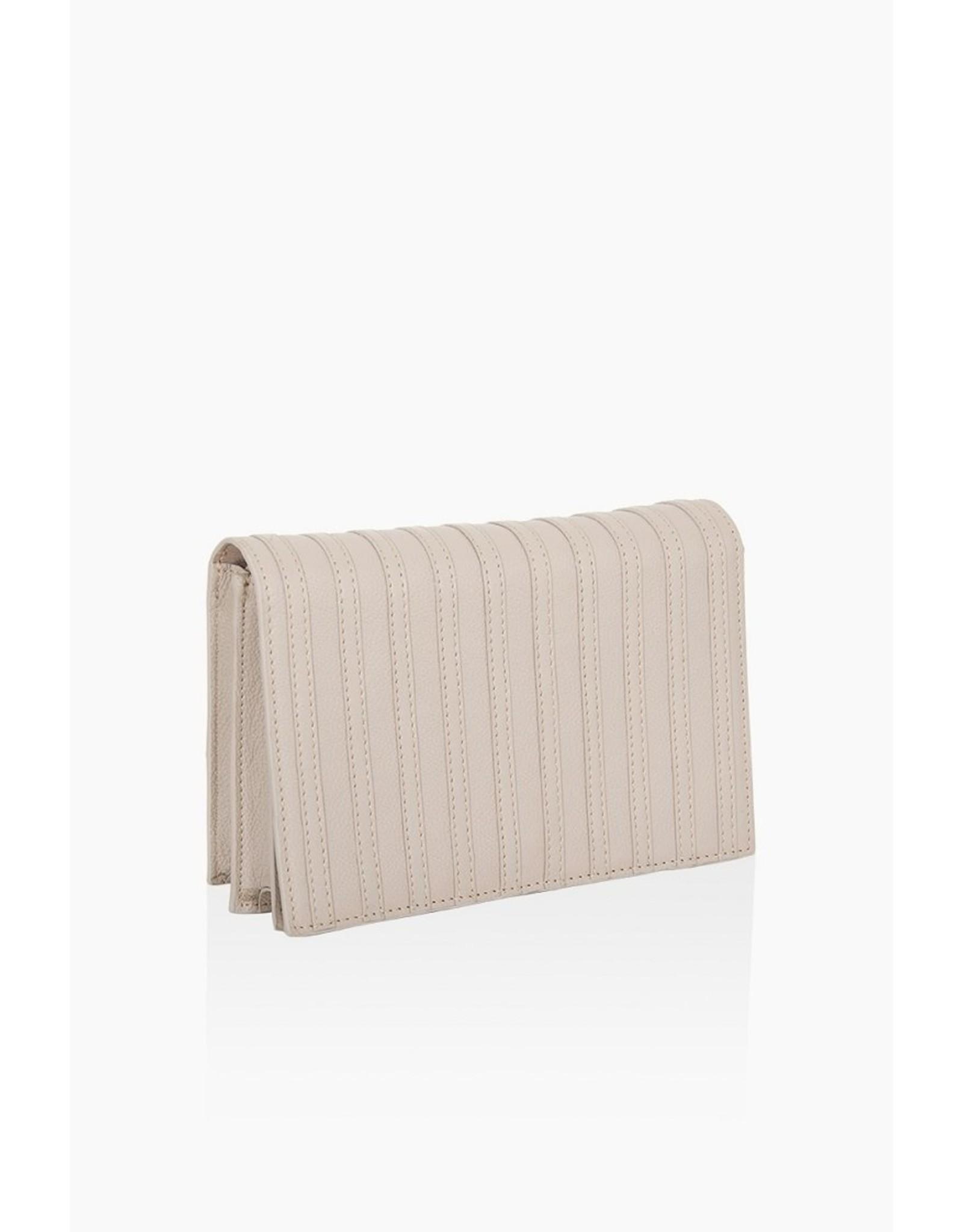 Handtas stripes taupe
