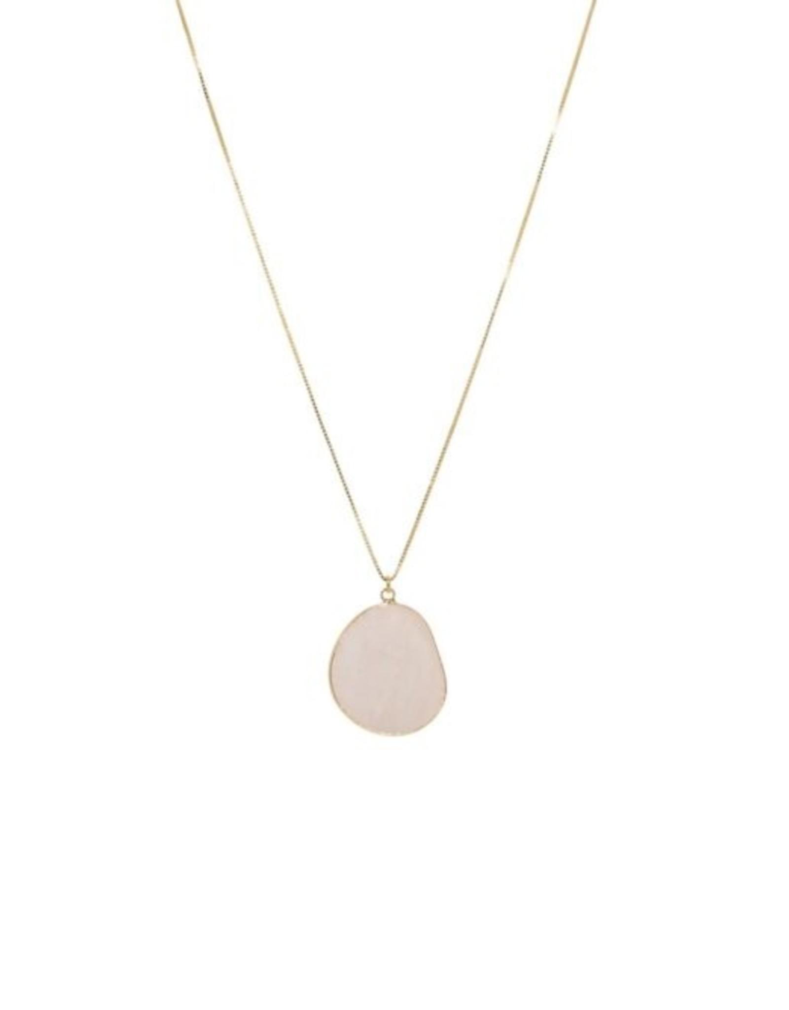 Ketting gemstone hanger roze