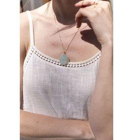 Ketting gemstone hanger mint