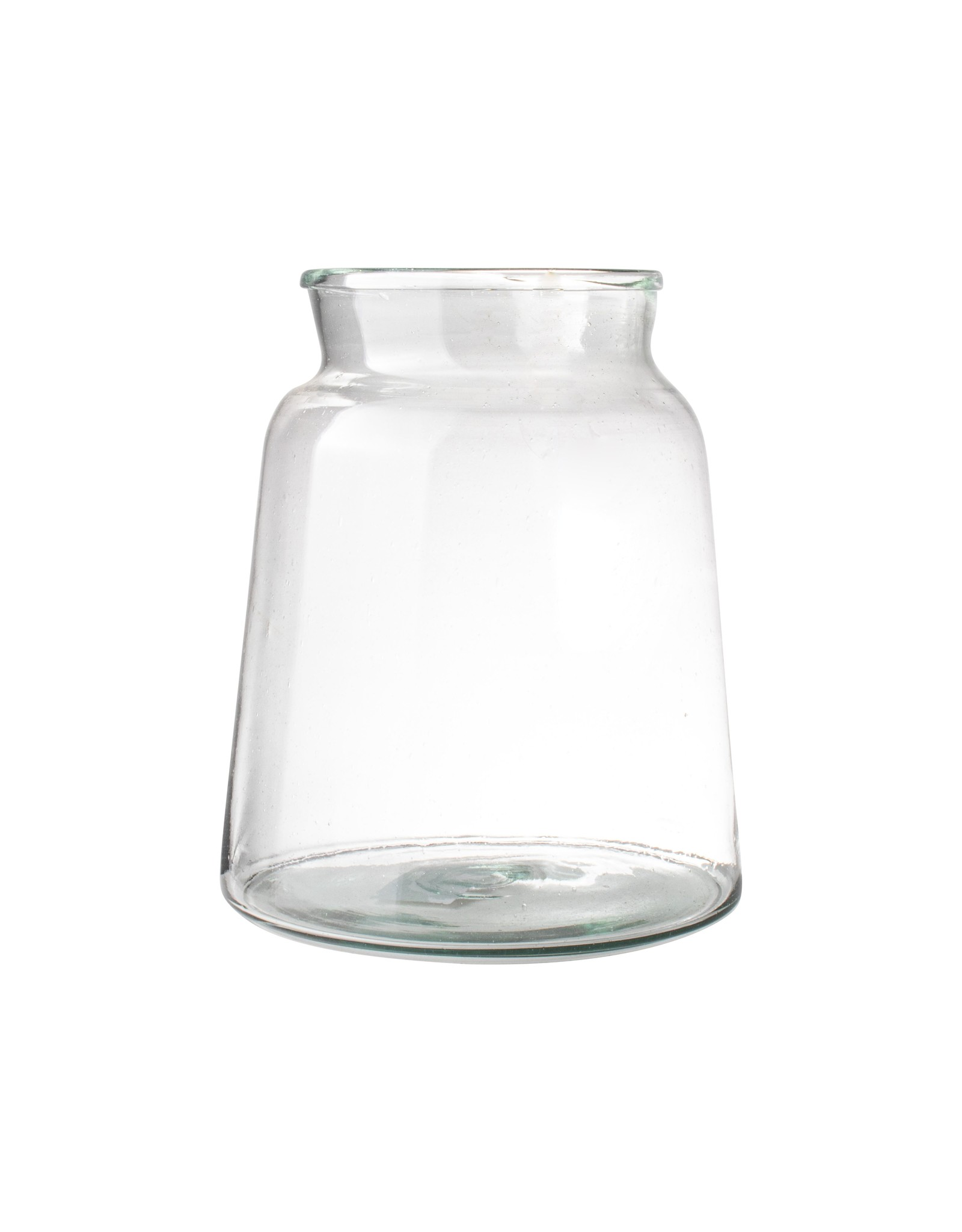 Vaas van gerecycleerd glas