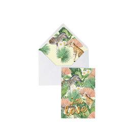 Wenskaart With Love Flower