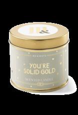 Geurkaars Blik You're solid gold