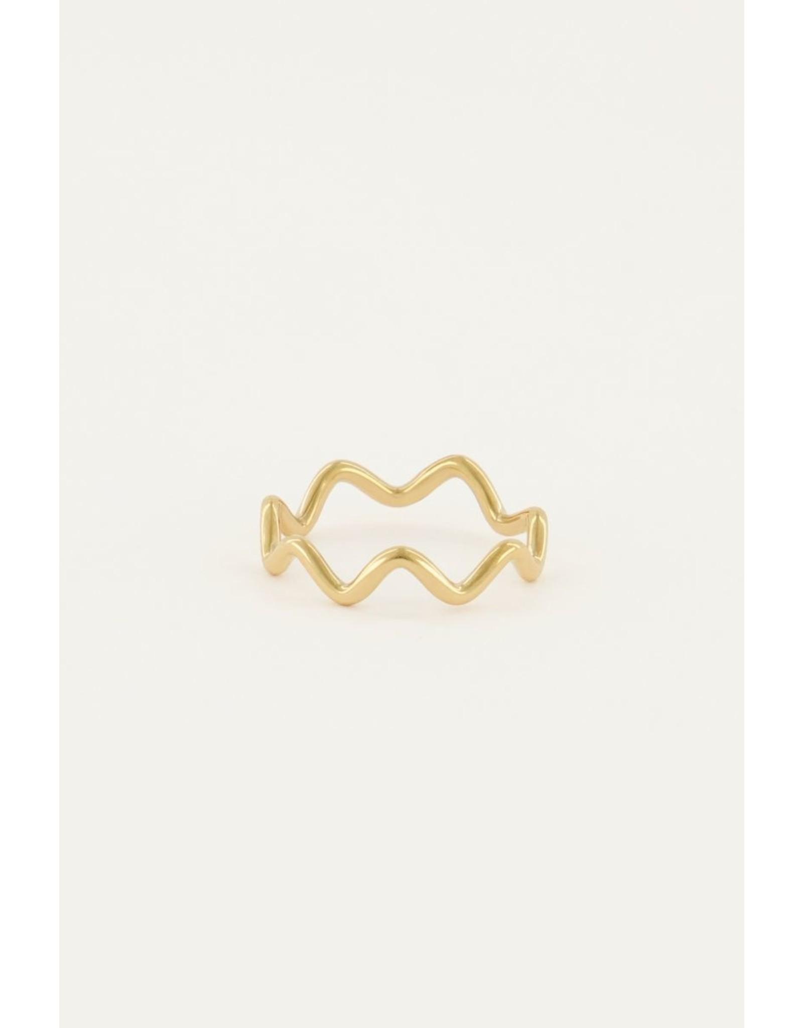 Ring boogjes goud