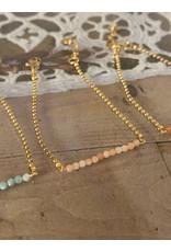 Armband fijne gemstones apricot