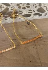 Armband fijne gemstones koraal