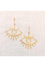 Oorhangers eyes gold