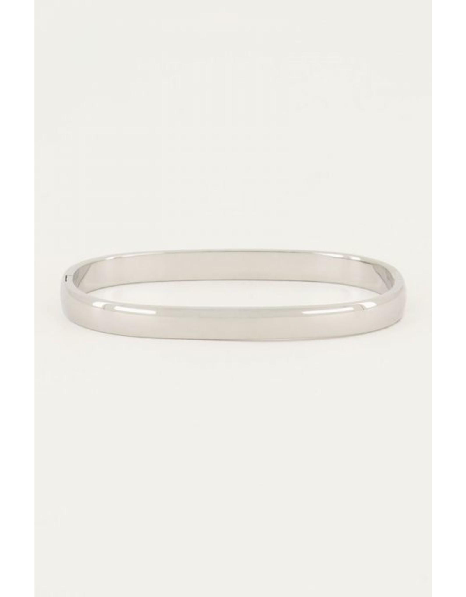 Bangle rectangle silver