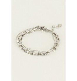 Armband zilver schakels