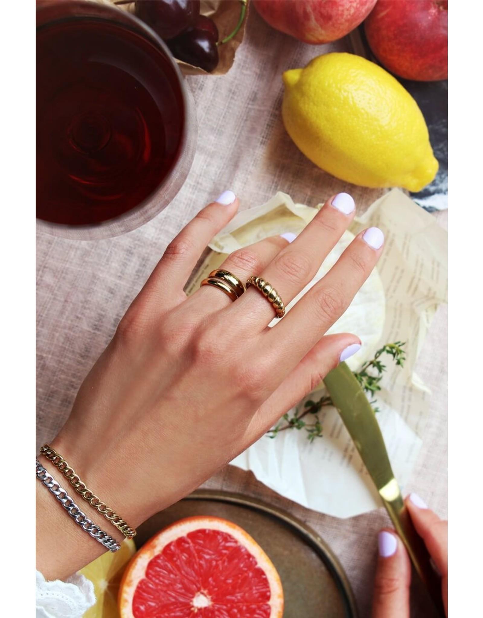 Ring ribbels goud