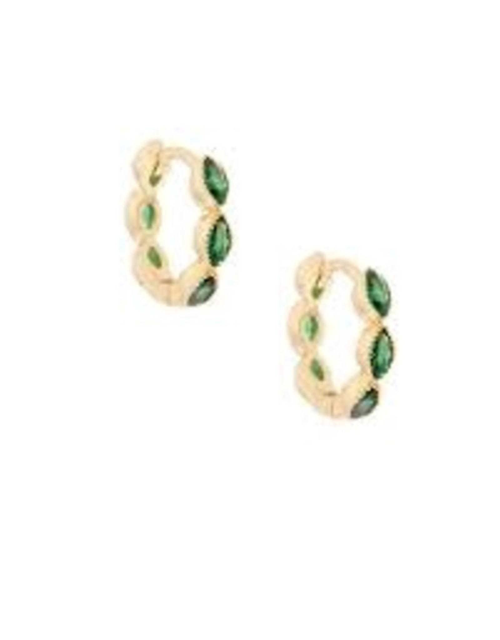Oorringen steentjes groen
