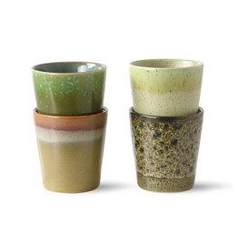 Set van 4 koffietassen spring green