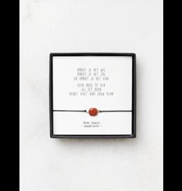 Armbandje 'Omdat je het wil'