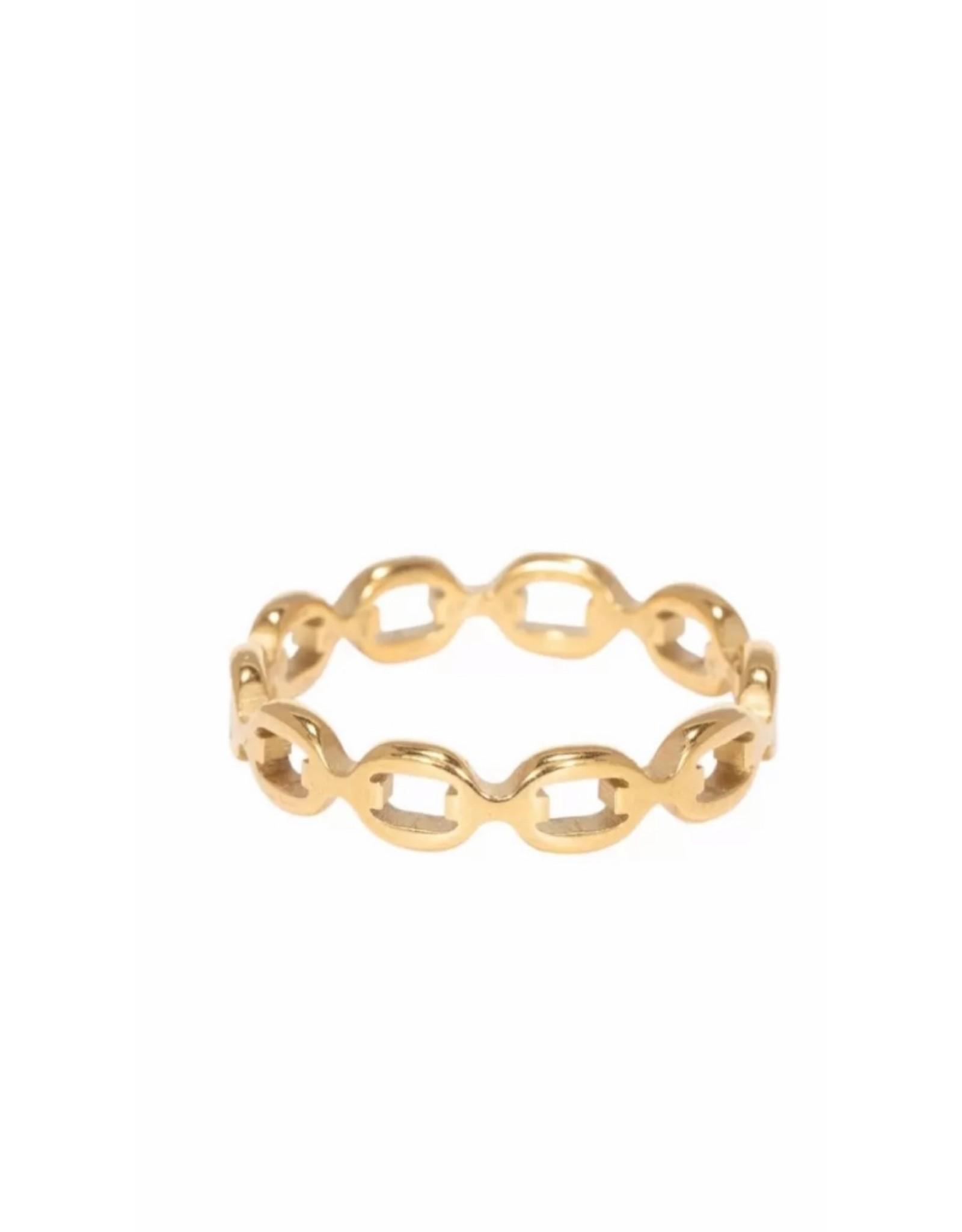 Ring schakel goud