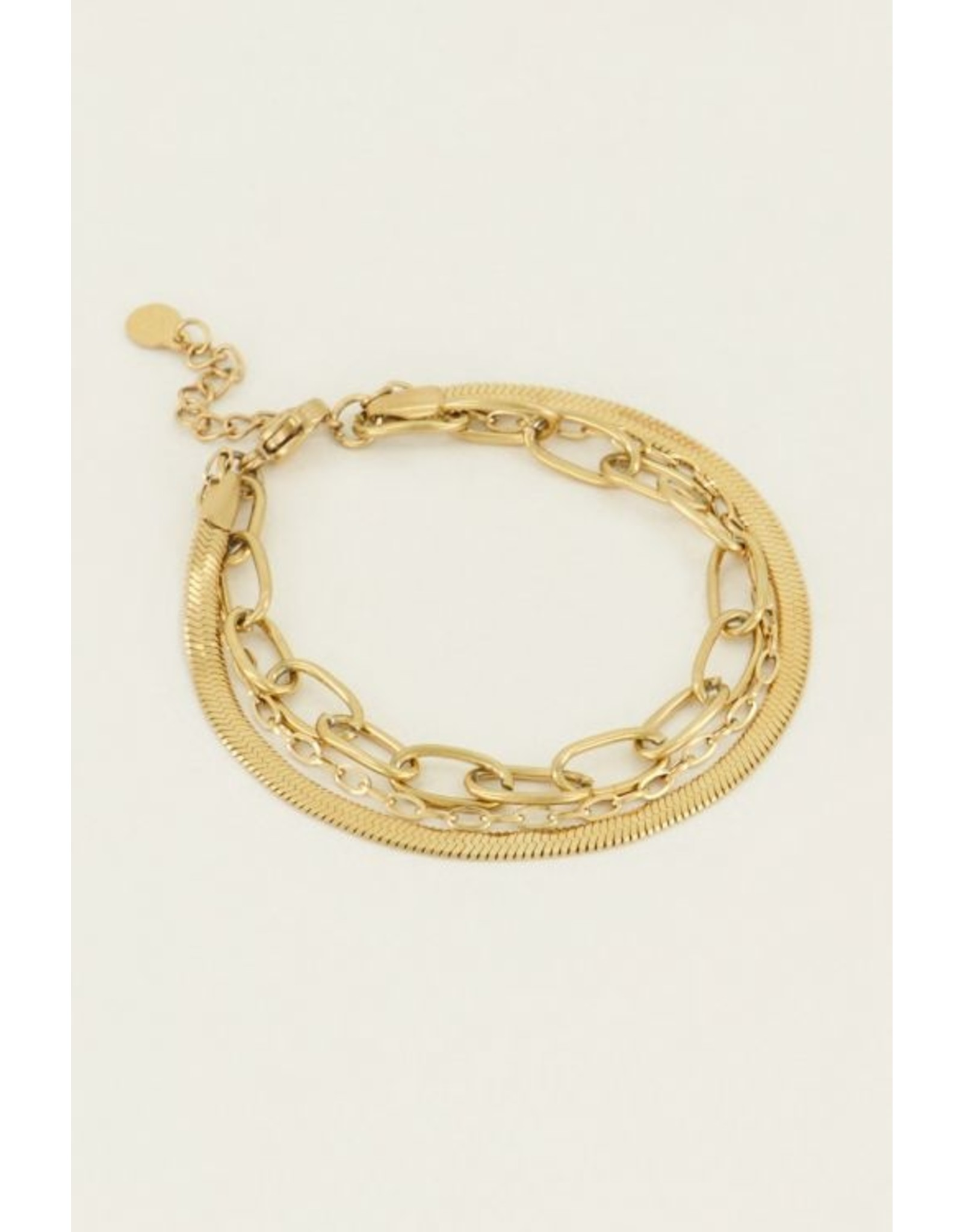Armband driedubbel goud