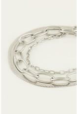 Armband driedubbel zilver