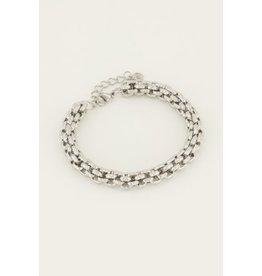 Armband chunky schakels zilver