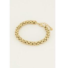 Armband chunky schakels goud