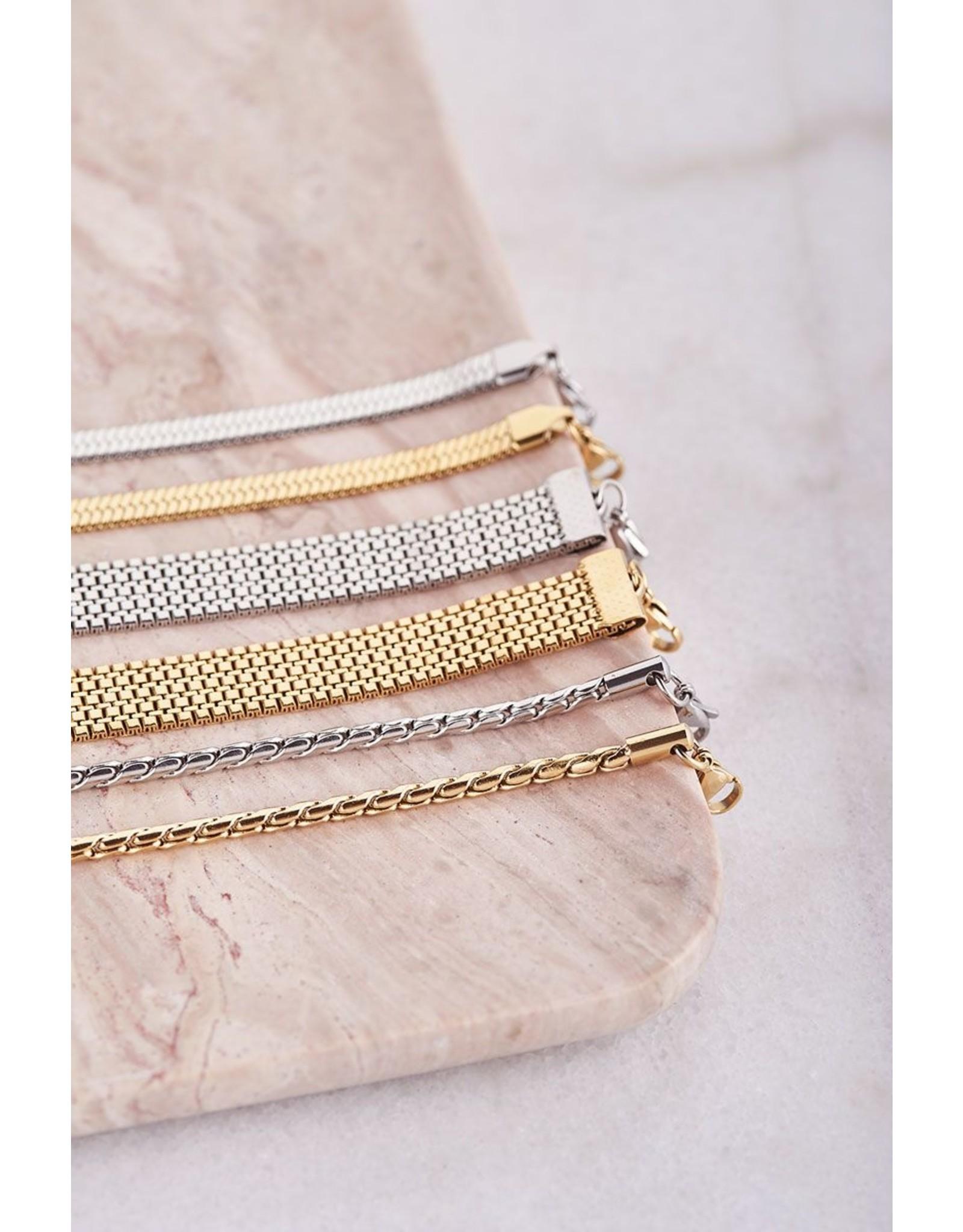 Armband gedraaid goud