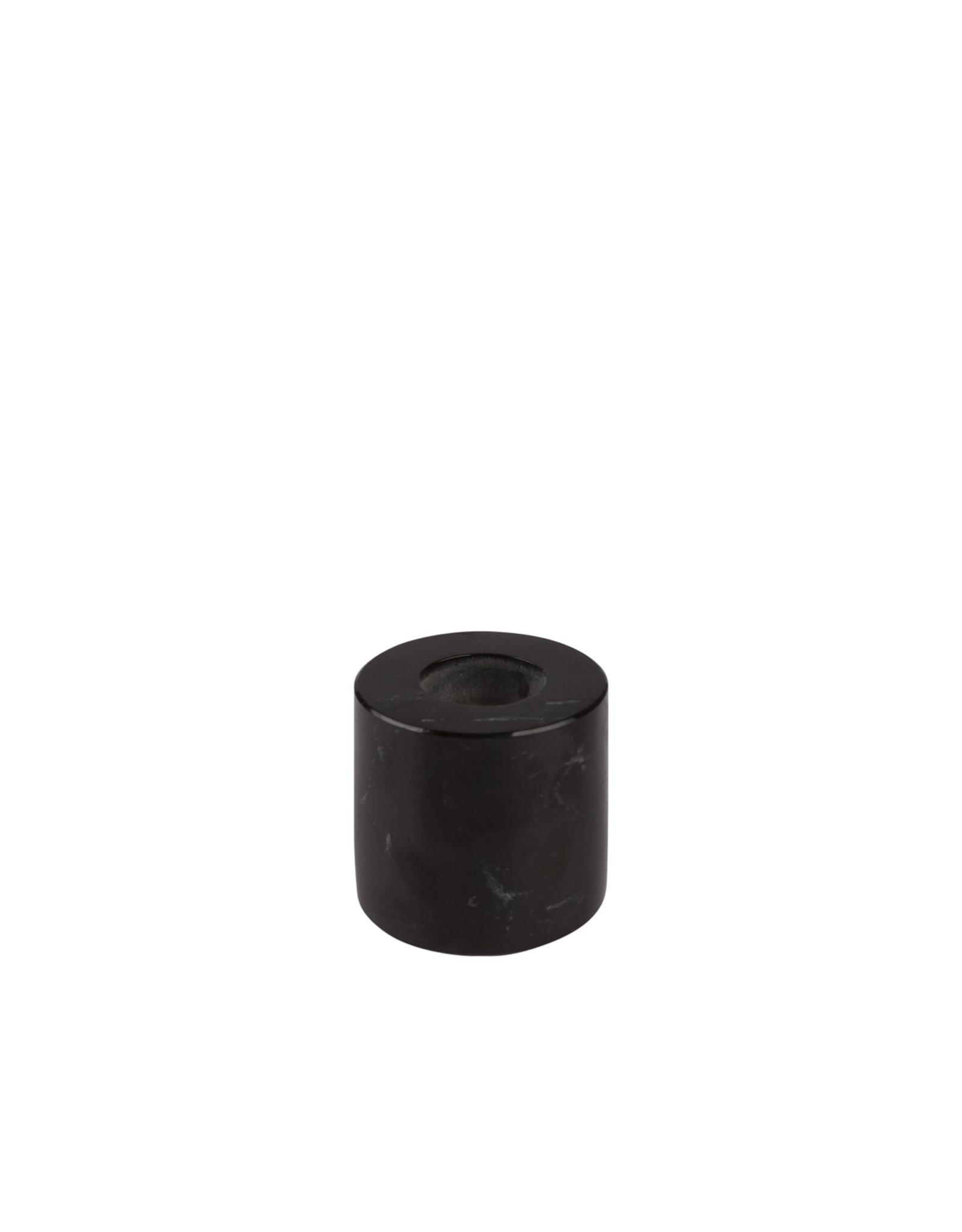 Kaarshouder marmer zwart S