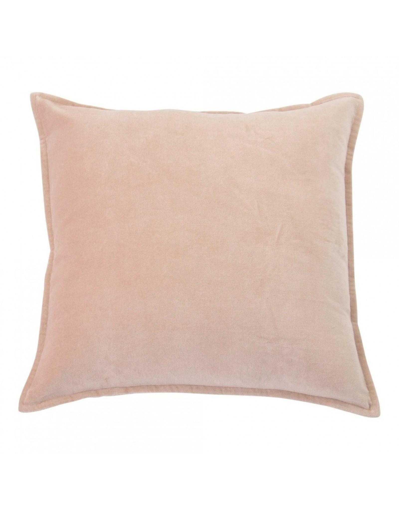 Kussen fluweel dusty pink