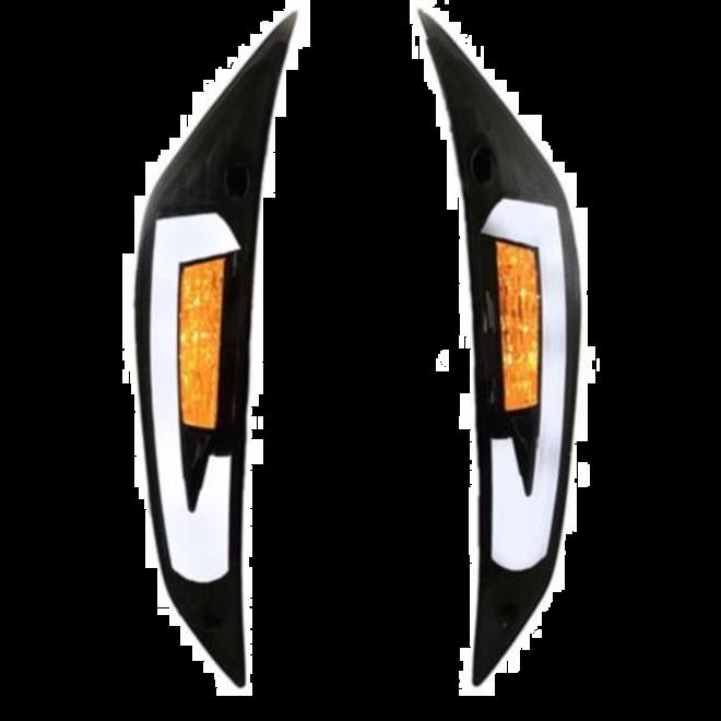 Knipperlichten voorzijde Power1 LED tube smoke - Piaggio Zip