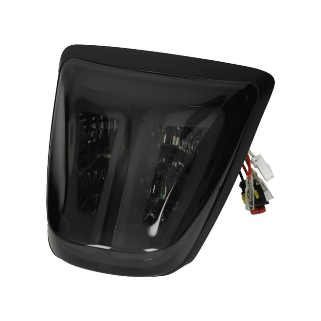 Power1 LED Tube Smoke / Mat Zwart - Vespa Primavera, Sprint