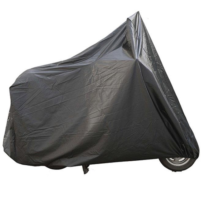 Aplus scooterhoes kleur zwart XL scooter met windscherm en koffer