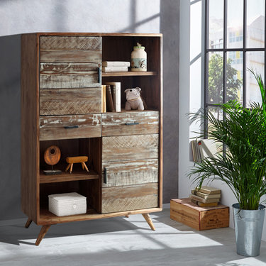 India - Reproduction Furniture Zen Acacia Cabinet