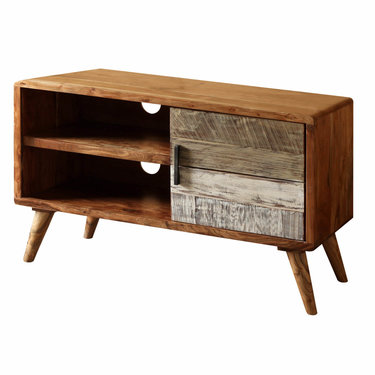India - Reproduction Furniture Small Zen Acacia TV Cabinet