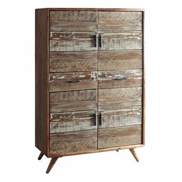 India - Reproduction Furniture Zen Acacia Four Door Cabinet