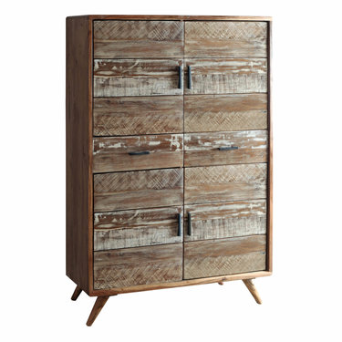 Trading Boundaries Zen Acacia Four Door Cabinet