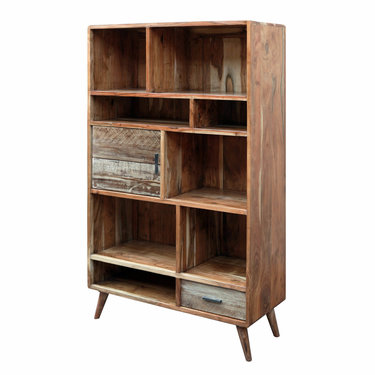India - Reproduction Furniture Zen Acacia Large Bookcase