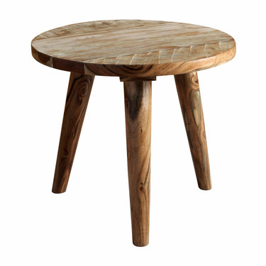 India - Reproduction Furniture Zen Acacia Round Side Table