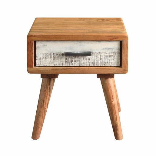 India - Reproduction Furniture Zen Acacia Small Bedside Cabinet