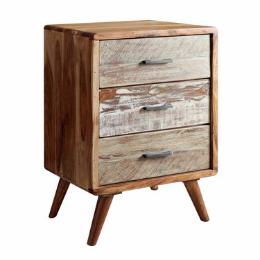 India - Reproduction Furniture Zen Acacia 3 Drawer Cabinet