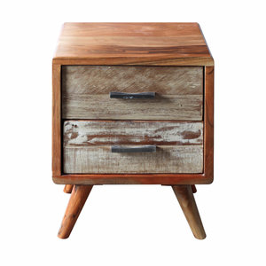 Zen Acacia 2 Drawer Bedside Cabinet